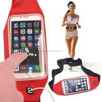 2015 NEW Waist bag Casual Waist Pack Sport bag Waterproof pocket Running Bags Mobile Phone Case for IPHONE6