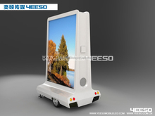 YEESO Outdoor Moblie Advertising Light Box, Scooter Advertising Trailer, Electric Light Box Scooter