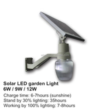 12w solar garden led light solar powered garden light