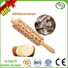 Custom Wholesale Adjustable Wood Rolling Pin,Marble Engrave Rolling Pin Wood