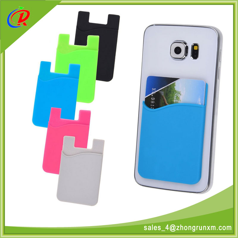 Custom Color And Logo Durable Silicone Rubber Phone Case With 3M Sticker