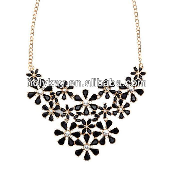 snowflake shape acrylic crystal necklace jewelry, alibaba in russian fashion necklace jewelry