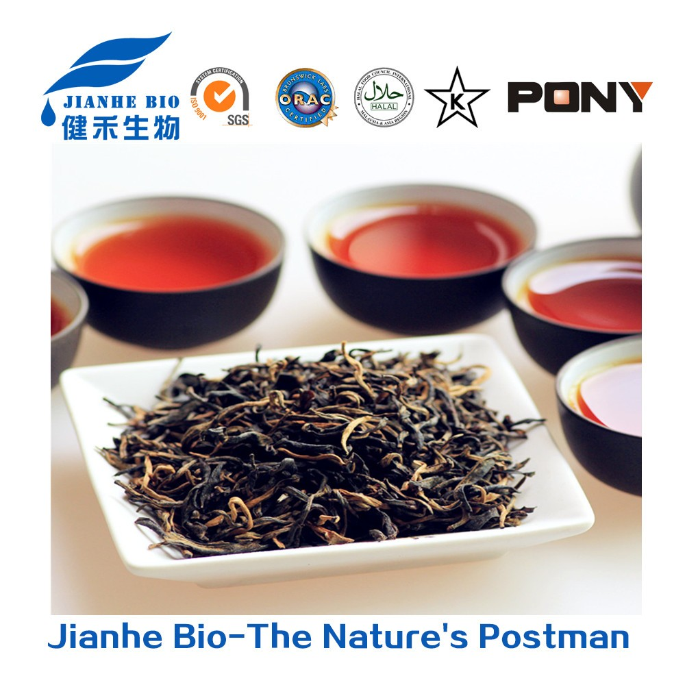 High anti oxidant and anti viral Natural Black Tea Extract, High quality Black Tea Extract powder 40% theaflavins