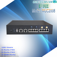 100 extensions pbx phone system connect with VoIP GSM Gateway