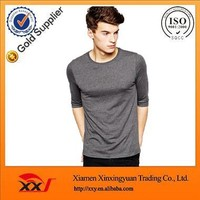 mens half sleeve t shirt blank tshirt design own your label fashion fit blank t-shirt