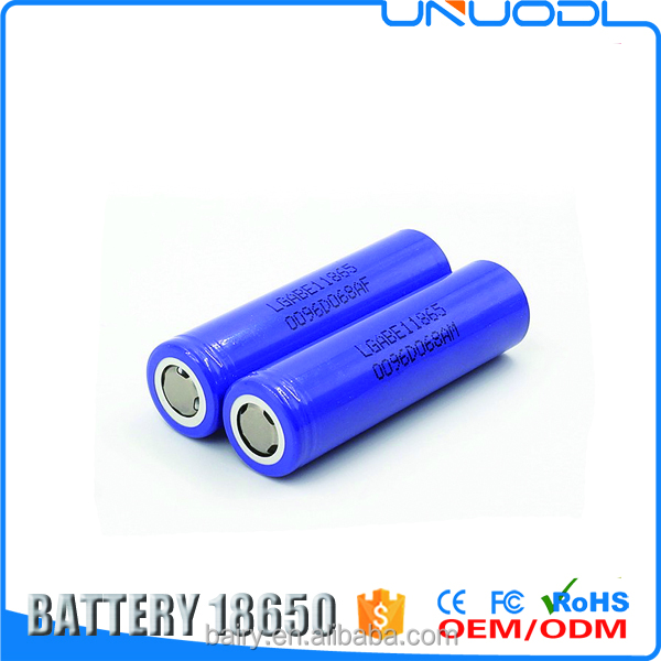 Latest rechargeable li-ion battery ICR 18650 E1 3200mah 3.7v battery cells