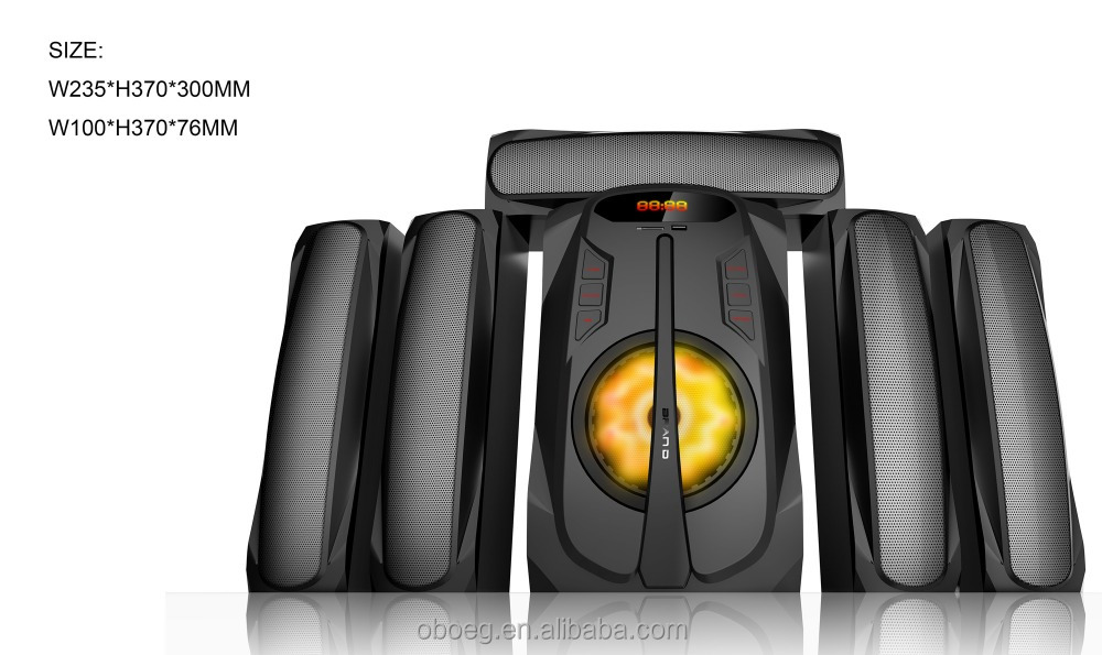 Newly private model 5.1channel multimedia active speaker system with amplifier