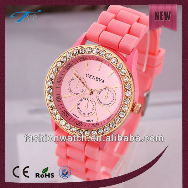 Fashion best price silicon multi colors watches for ladies