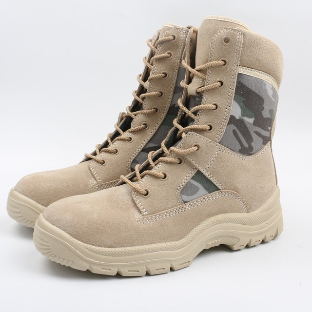 camouflage tan desert army brown nubuck hot resistant architect work safety shoes boots