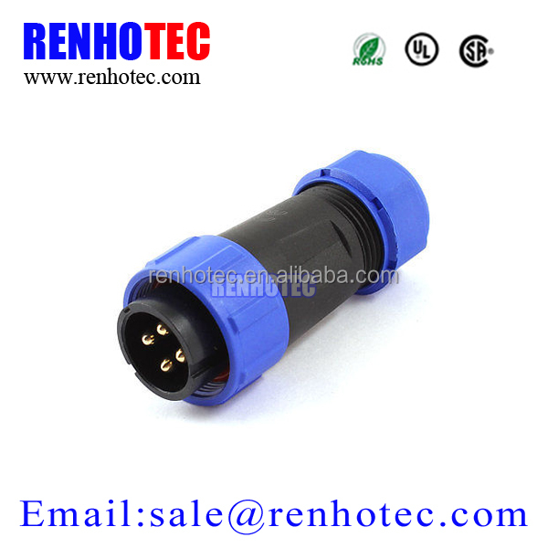 AC 500V 30A 8-12mm Waterproof Cable Gland 4 Pin Male Connector Aviation PluG male and female cable connectors
