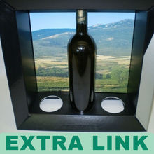 high quality windows wine carrier box with handle
