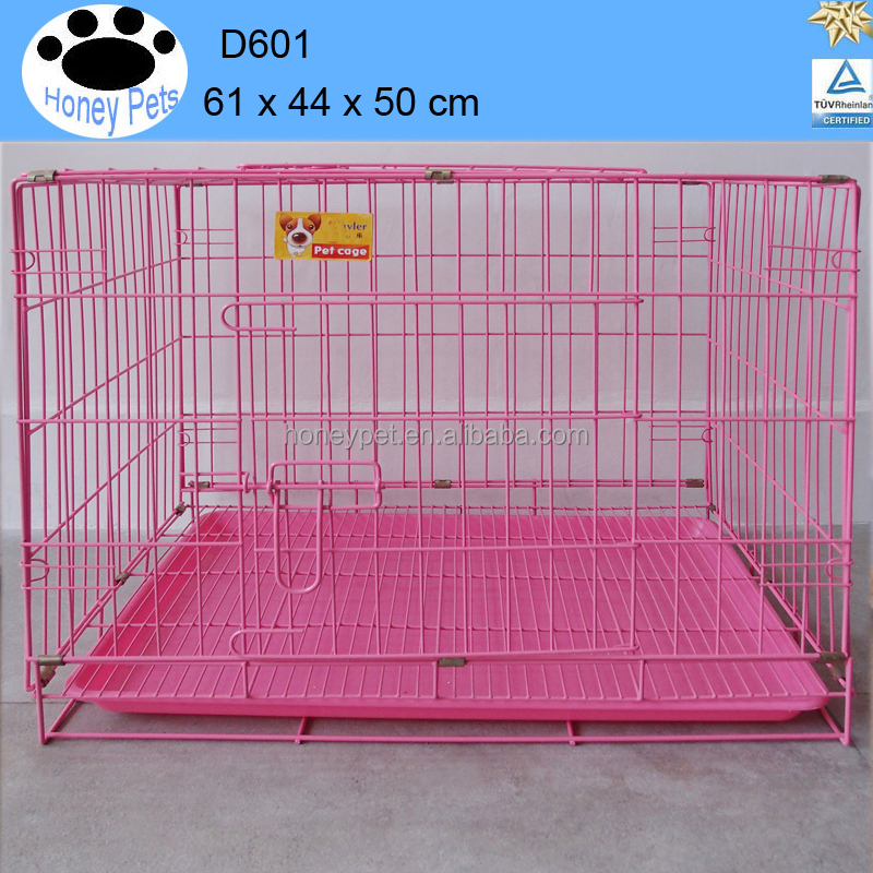 Folding Wire Dog Crate Two Door Collapsible Medium Dog Size outdoor metal dog cage