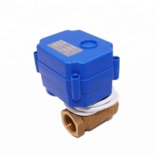 Economical 1/2'' DN15 AC12V brass 2 way electric motor actuated ball valve for remote control