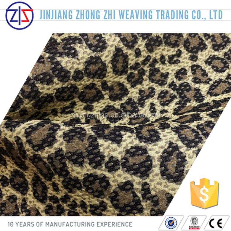 Fashion 3D Leopard Tattoo Print Air mesh fabric for Shoes