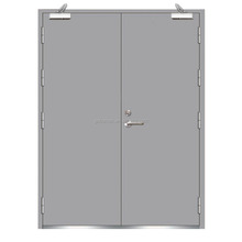 Certificated fire rated Mall, office, civil building commercial double steel doors