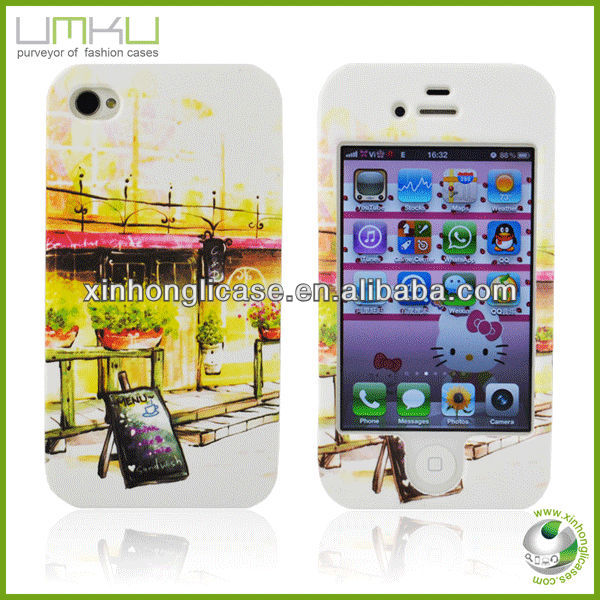 2013 new product,hot selling two layer PC case for Iphone4/4s,wholesale
