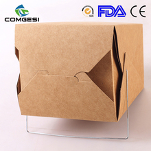 disposable hot sale 2018 take away paper craft box for food packaging best quality offset printing amazon