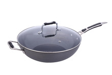 aluminum wok with CD bottom and glass lid