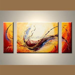 Wholesale handmade triptych abstract painting