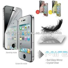 Factory supply paypal hot sale!high quality !!!Mirror screen protector for ipad2/3For iphone 5 for ipad 2 for Galaxy S3