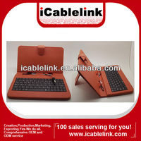 "USB Keyboard with smart leather Cover / Case for 7"" Tablet PC MID with Stylus Pen orange"