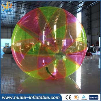 2017 PVC or TPU colorful inflatable water walking ball,water bubber ball for water