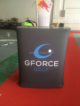 portable tension fabric trade show display podium counter table with printing