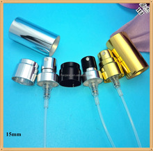 15mm perfume crimp pump sprayer with collar and aluminum cap