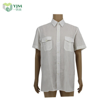 China Supplier 100% Cotton Stand Collar White Solid Men Dress Shirt