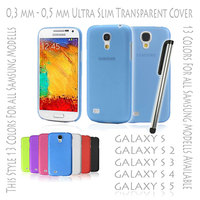 Best Price Ultra Slim Thin Hard Case Cover Transparent Matte Ultra Slim 0,3 mm for Samsung Galaxy S3 S 3 III i9300 Blue