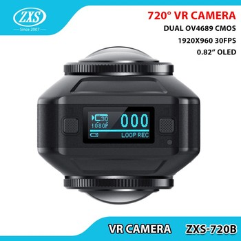 ZXS-720B VR Camera 720 degree panoramic dual lens 360 video camera