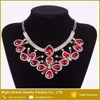 Red Crystal Rhinestone Choker Necklace Chain Necklace Bib Necklace
