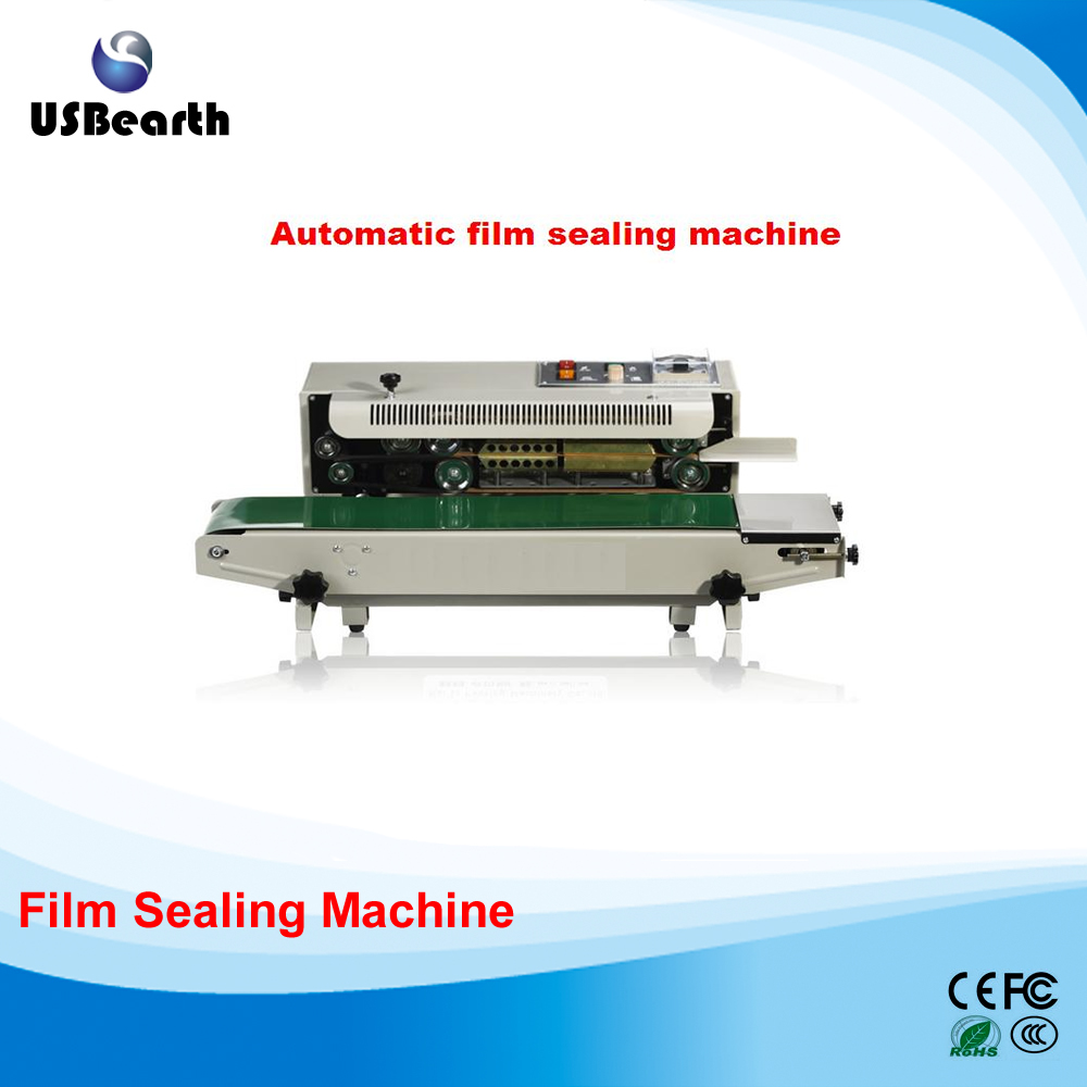 2017 Newest Plastic Bag Soild Ink Continuous Band Sealer, 500W Automatic film sealing machine