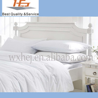 Cheap 100% cotton white plain hotel style bedspreads
