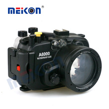 Hottest Meikon 15-60mm lens waterproof camera case for Sony A6000