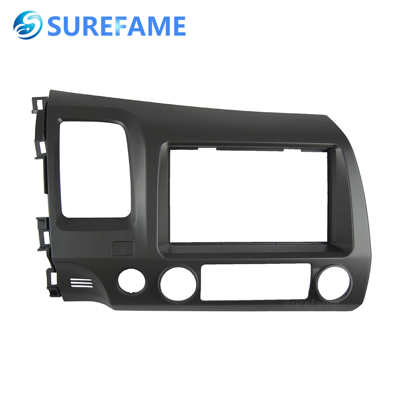 Double Din ABS Car Audio DVD Frame Facia for Honda Civic 2006-2011 LHD Auto Radio Stereo CD Fascia Cover 2din