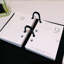 2018-2019 Desk plastic table calendar with note pad