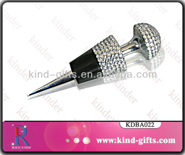 Corkscrew Rhinestone Wine Stopper for wedding