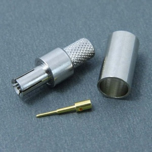 RF coaxial TS-9 male crimp connector for RG58 cable