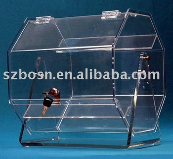Acrylic Lottery Box,Perspex Lucky Draw Box,Lucite Ernie
