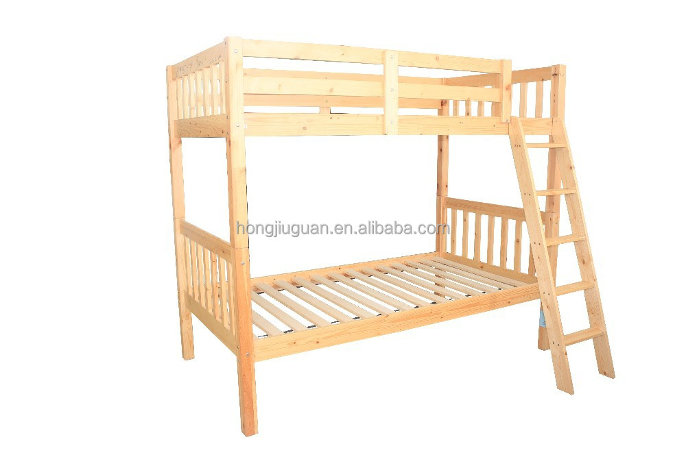 wooden bunk bed nature color,double decker bed,wooden double decker bed