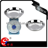 Stainless Steel Deep Round Tray for Electric Scale