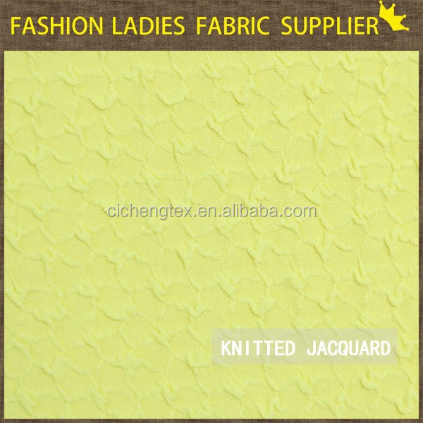 poly knitted jacquard fabric/thick spandex fabric popular jacquard