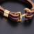 New Style Stainless Steel Jewelry Brown Real Leather Gold Sailor Anchor Bracelet