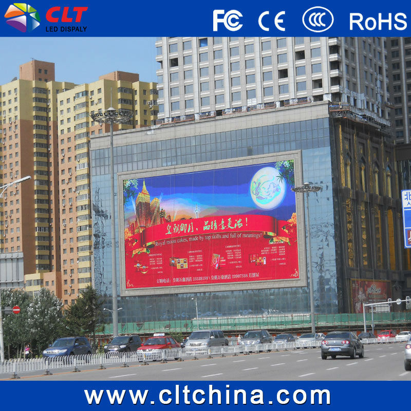 P16 outdoor digital full color led advertising video display