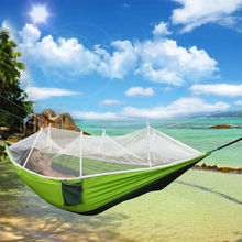 Lightweighted Portable Travel Camping Jungle Garden Outdoor Hammock Hanging Nylon Bed Mosquito Net