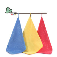 MIKAQI Coral fleece hanging square towel saliva towel Solid color Nano Microfiber small towel