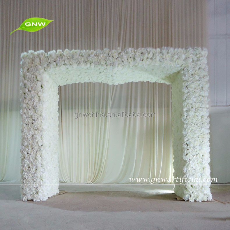 GNW FLW1603002-G good-looking artificial flower arch with rose and hydrangea for wedding