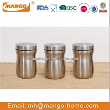 stainless steel metal airtight storage canister sets with steel lid
