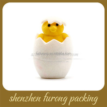 Best flock cartoon animal egg velvet folding jewelry box parts ring box